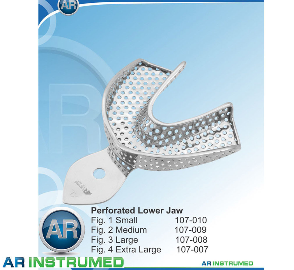 Impression Trays Perforated Lower Jaw All Sizes