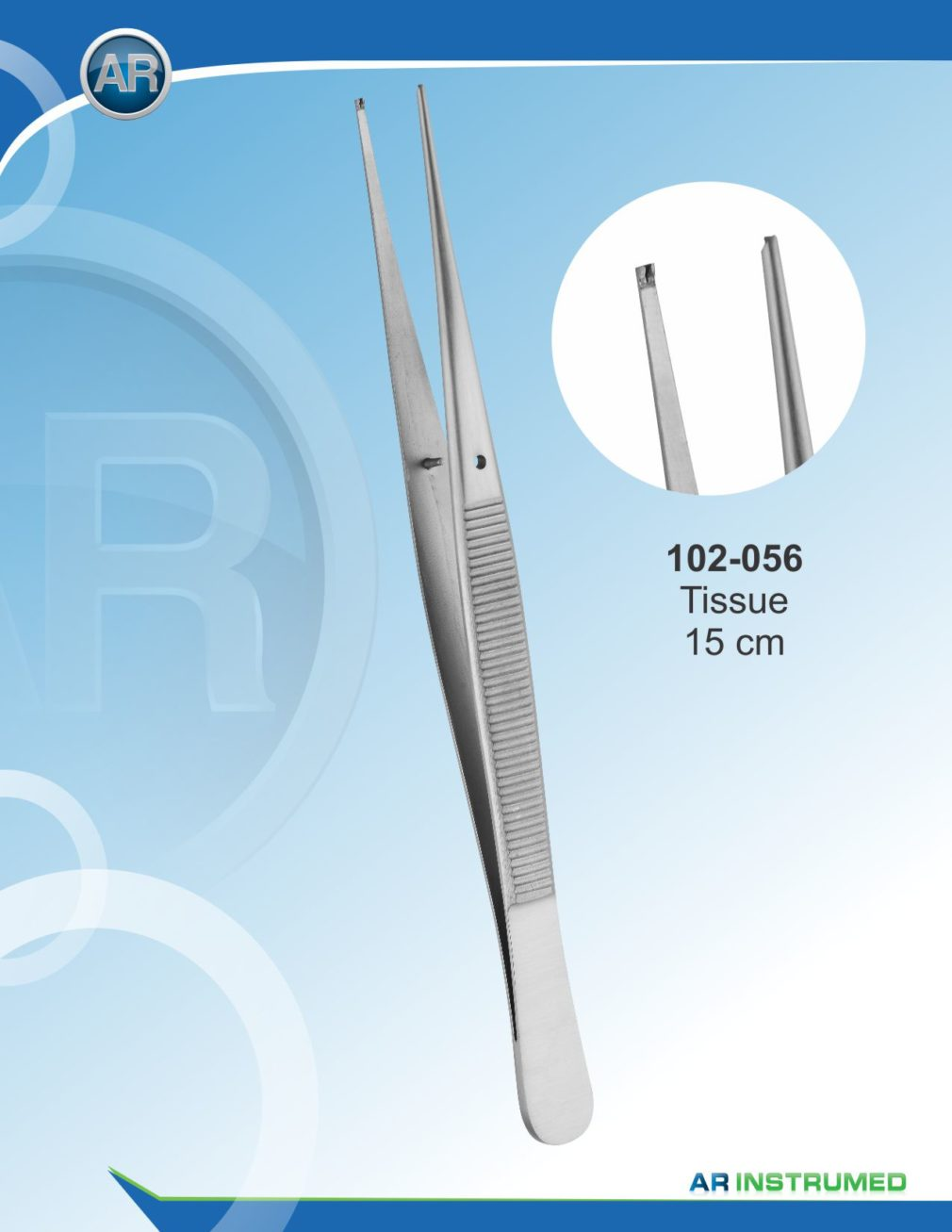 Tissue Forceps 15 cm Teeth 1×2 – Tweezers
