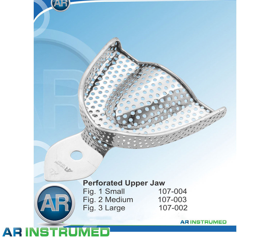 Impression Trays Perforated Upper Jaw All Sizes