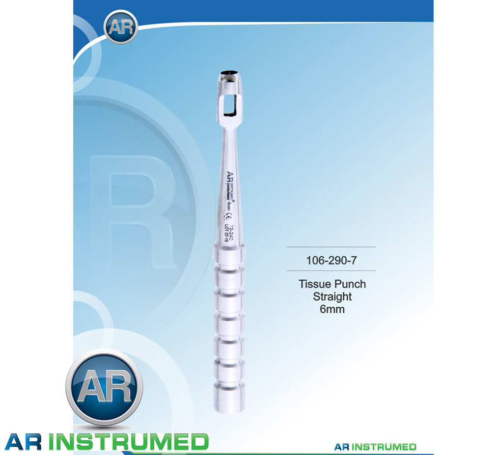 Implant Tissue Punch 6mm Straight