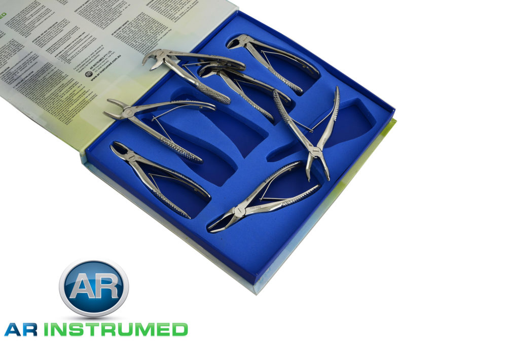 Paediatric Extracting Forceps Extraction Set of 7